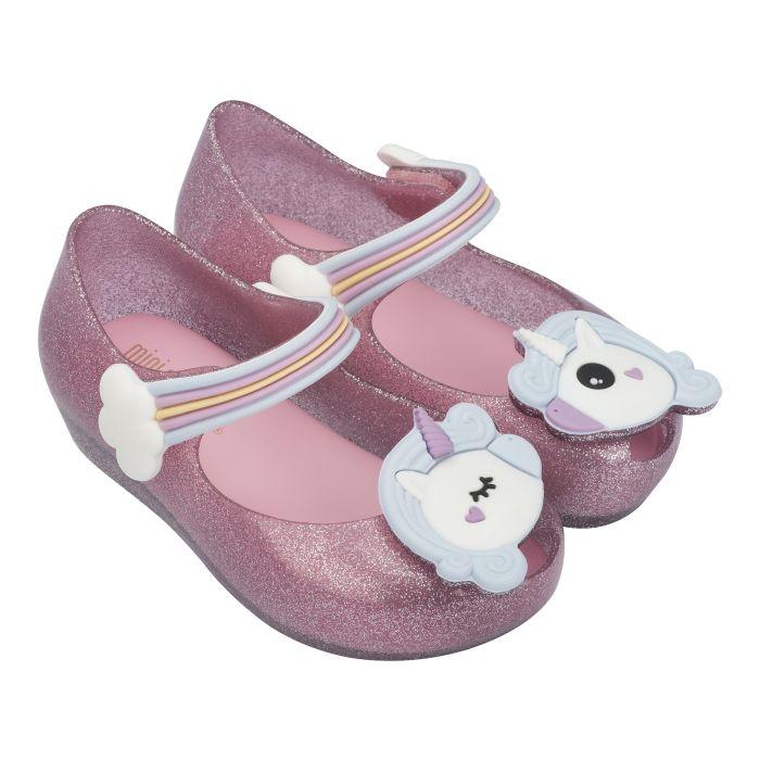 Mini Melissa girls White Unicorn slide sandals size 12 new