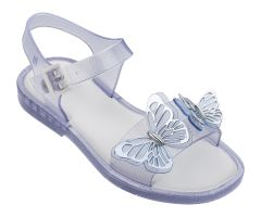 Kids Mar Sandal Butterfly Clear Glitter