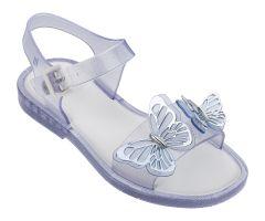 Kids Mar Sandal Butterfly Clear Glitter