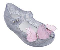 Mini Ultragirl Butterfly Silver Glitter
