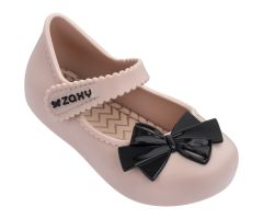 Baby Bow Nude Black