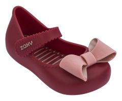 Baby Classic Bow Dark Red Contrast