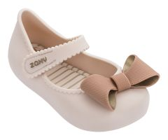 Baby Classic Bow Ivory Contrast