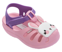 Baby Summer Wood Pink Bunny