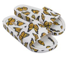 Beach Slide Print White Butterfly