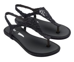 Campana Flow Sandal Black Glitter | Campana + Melissa Shoes | NONNON