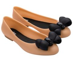 Doll Bubble Bow Tan Contrast