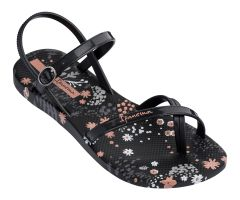 Fashion Sandal 21 Black Flower