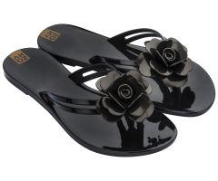 Flower Power Thong Black