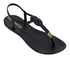 Glam Nautical Sandal Black