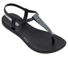 Kids Charm Glitter Sandal Black