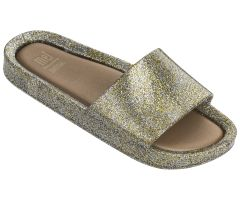 Kids Beach Slide Gold Glitter