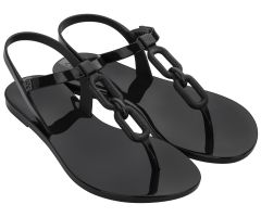 Infinity Sandal Links Black