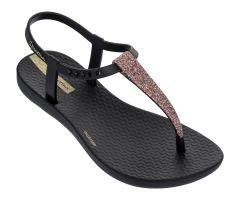 Kids Charm Glitter Sandal 21 Black