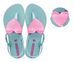 Kids Heart Sandal Aqua Pink