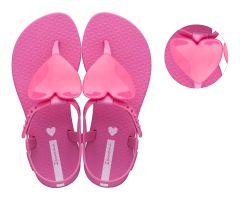 Kids Heart Sandal Hot Pink
