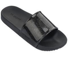 Kids Snap Slide Black Glitter