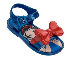 Mini Mar Snow White Sandal Blue Glitter Contrast