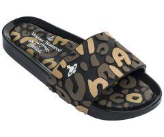 VW Beach Slide Leopard Black Contrast