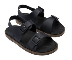 Wide Sandal Black Matt