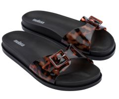Wide Slide Black Tortoiseshell